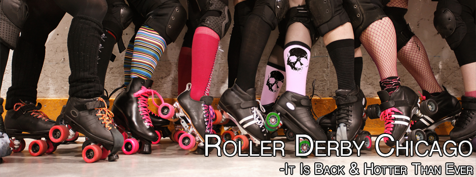 Roller Derby Chicago girls with skates